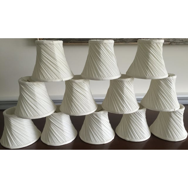 Image of Off White Chandelier Shades - Set of 12