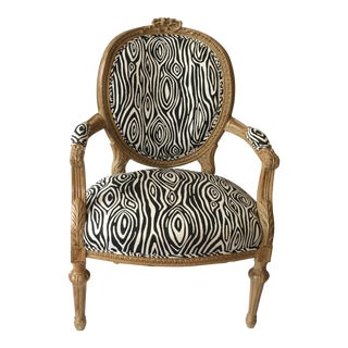 French Carved Louis XVI Arm Chair