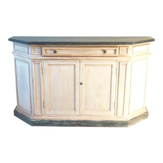 Italian Country Ivory & Blue Painted Buffet