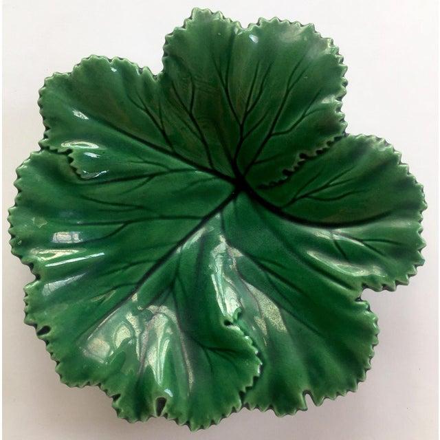 Vintage Portuguese Majolica Leaf Plate - Image 3 of 10