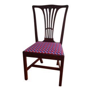 Georgian Style Mexican Textile Upholstered Side Chair