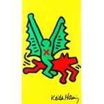 Image of Rare Keith Haring Yellow Skate Deck
