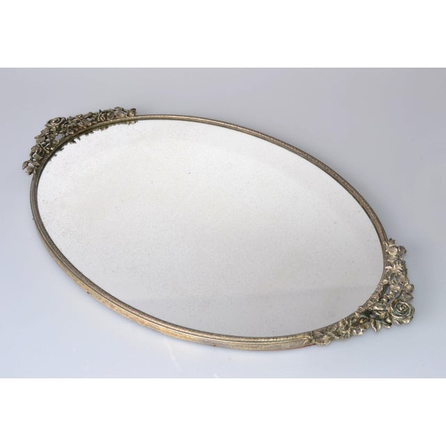 Image of Art Deco Pewter Mirrored Tray