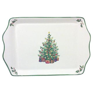 Ceramic Christmas Tree Serving Platter