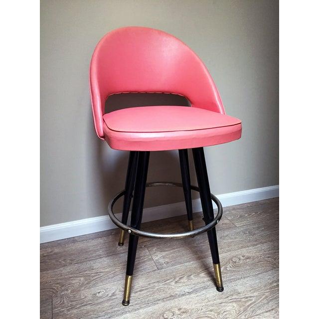 Pink Retro Swivel Counter Stools A Pair Chairish