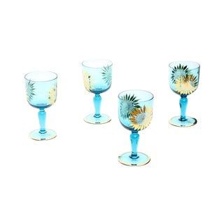 Vintage Sunflower Glasses - Set of 4