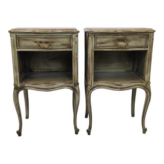 French Style Drexel Nightstands - A Pair