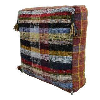 Turkish Hand Woven Kilim Sitting Cushion Rugrag Floor Pillow - 23ʺ X 23ʺ