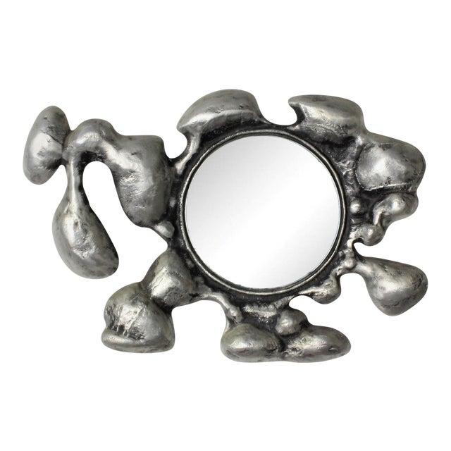 1970s Donald Drumm Brutalist Cast Aluminum Wall Mirror - Image 1 of 5