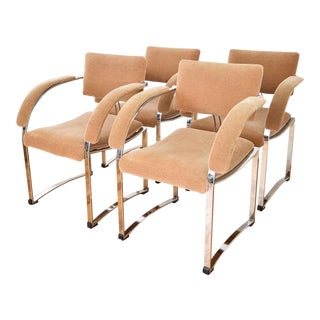 Vintage Giovanni Offredi for Saporiti Italia Dining Chairs - Set of 4