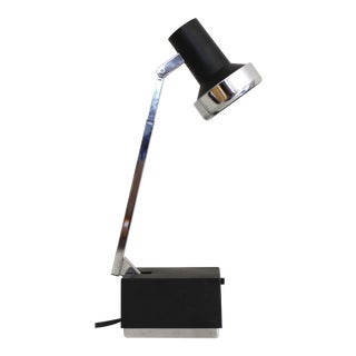 Lightolier Lytebeam Desk lamp Task Light Black Mid Century Modern