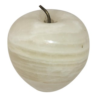 Vintage Marble Apple Paperweight