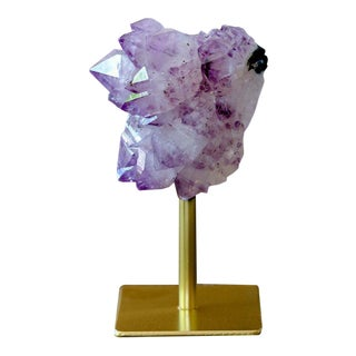 Small Amethyst on Gold Iron Stand