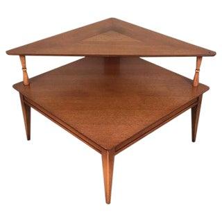 Lane Mid-Century Two-Tier Corner Table