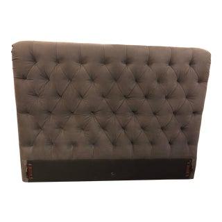 Restoration Hardware Chesterfield Dark Gray Tufted Queen Size Bed