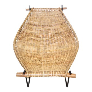 Rattan and Iron Sling Chair by Danny Ho Fong for Tropi-cal