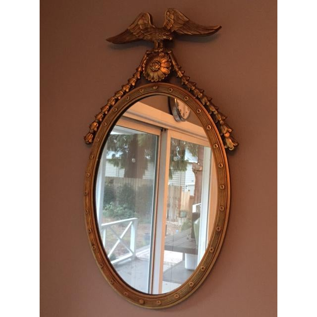 Federal Style Oval Mirror - Image 6 of 7