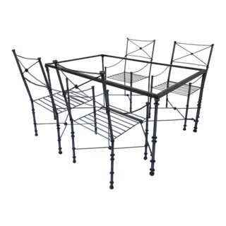 Neoclassical Iron Table & Chairs
