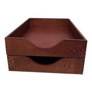 Carver Desktop Storage Trays - A Pair