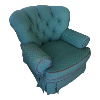 Green Victorian Club Chair