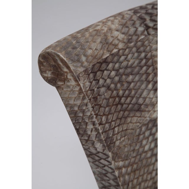 Pair of Fishskin Covered Chairs - Image 9 of 10