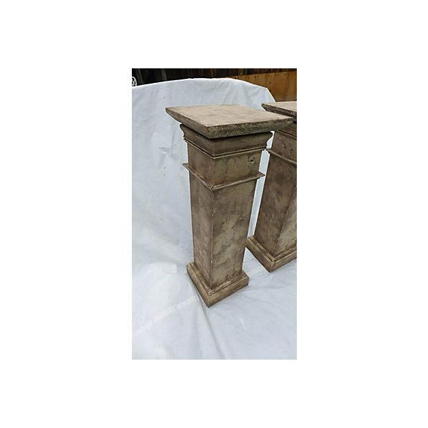 Architectural Decor Finish Wood Pedestals - A Pair - Image 6 of 7