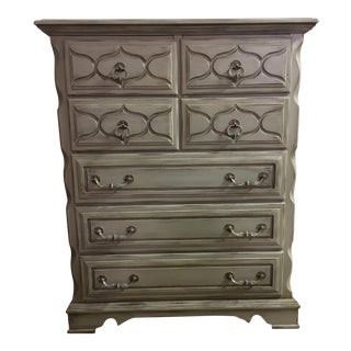 Grey Rustic Shabby Chic Highboy