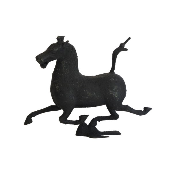 Image of Chinese Iron Horse Sculpture