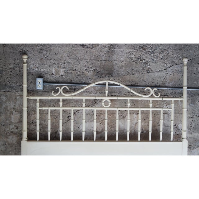 Drexel Regency Faux Bamboo Full Headboard - Image 3 of 7
