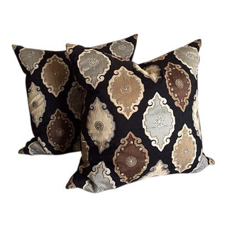 "Hand Crafted ""Diem Collection"" Moroccan Pillows - A Pair"