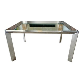Chrome Mirrored Top Coffee Table