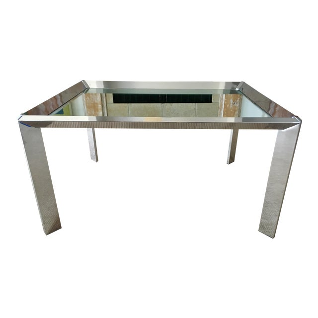 Chrome Mirrored Top Coffee Table Chairish