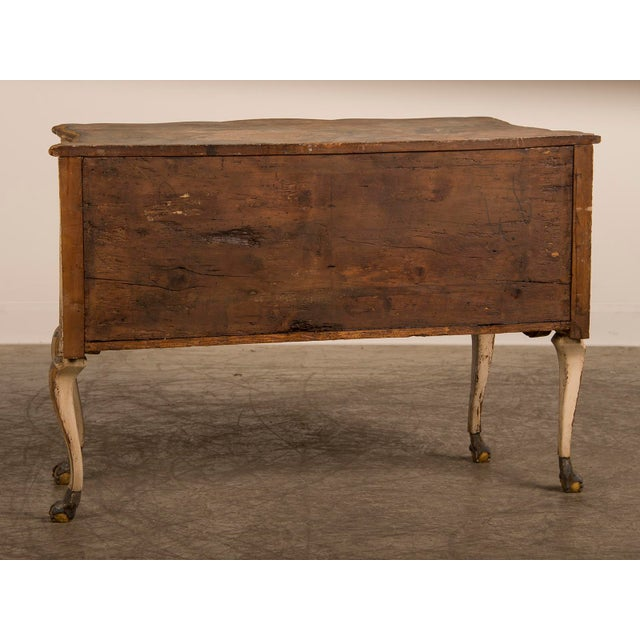 Antique Italian Baroque Painted Two Drawer Chest, circa 1750 - Image 7 of 11