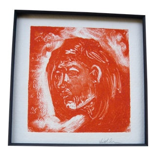 Woman in Orange Monoprint