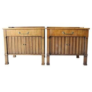 Hollywood regency nightstands a pair for Sofa global 6450