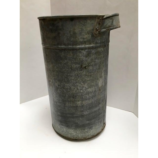 Vintage Round Galvanized Metal Planter Chairish