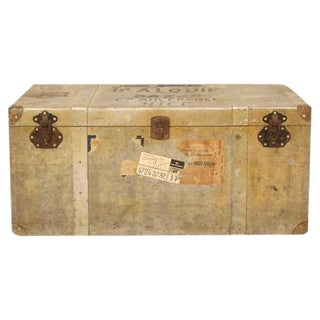 French Metal Trunk or Suitcase