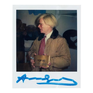 'Pop Art' Keith Haring Polaroid of Andy Warhol ca. 1980