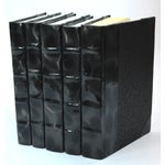 Image of Prismatic Black & Silver Patent Books - Set of 5