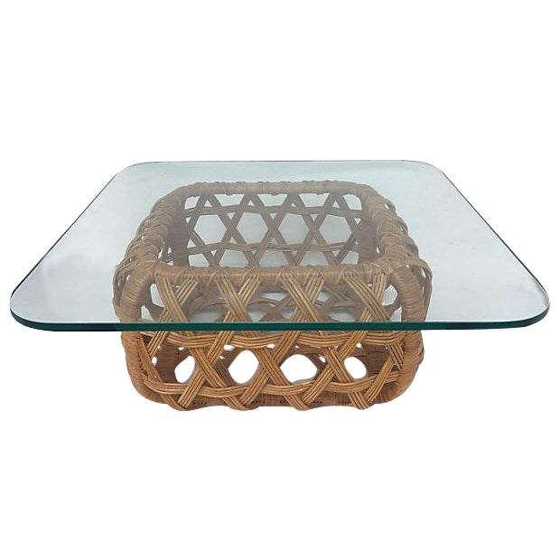 Danny Ho Fong for Tropi Cal Rattan Coffee Table - Image 1 of 7