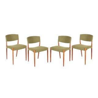 Teak Green Dining Chairs by Bender Madsen - Set of 4