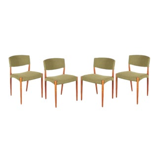 Teak Green Dining Chairs by Bender Madsen - Set of 4