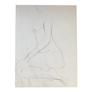 Kneeling Nude Drawing