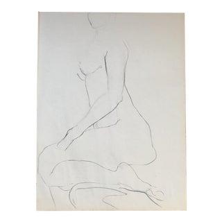 Kneeling Nude Drawing
