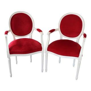 Ethan Allen Cassatt Armchairs - A Pair
