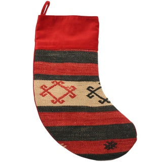 Red Kilim Christmas Stocking
