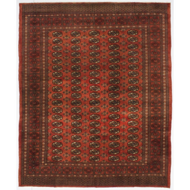 "Rust Red Finest Peshawar Bokhara Rug - 8'4"" X 10' - Image 2 of 3"