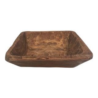 Antique Wood Bowl