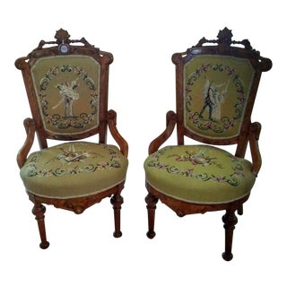 Antique Ballet Side Chairs - A Pair
