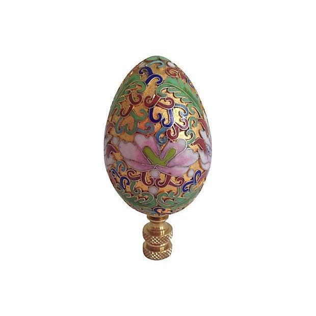 Image of 1940s Cloisonné Egg Finial